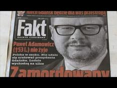 The death of the mayor of Gdansk on the front page of the Polish daily papers