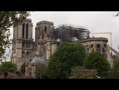 The Cathedral Notre-Dame-de-Paris after the fire