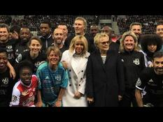 Football: Brigitte Macron attends a mixed match in Reims