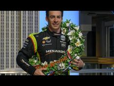 500 miles from Indianapolis: Simon Pagenaud triumphing in the Empire State Building