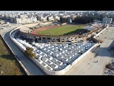 In Syria, a soccer stadium by way of shelter for hundreds of families