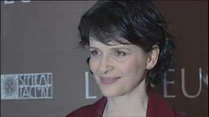 "Juliette Binoche's portrait and presentation of her movie ""The Test"""