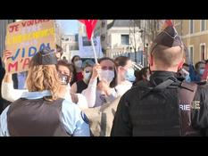 Student precariousness: demonstration on the sidelines of a visit by Frédérique Vidal to Poitiers
