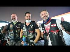 Bikers from Dubai's Harley Davidson Club collect humanitarian aid for Lebanon