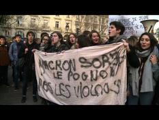 """Black Tuesday"" in high schools: demonstration in Paris"